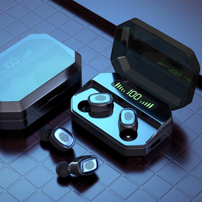 Auriculares inalámbricos S70 TWS con pantalla LED, auriculares con sonido estéreo para deportes en 3D, auriculares con caja de carga
