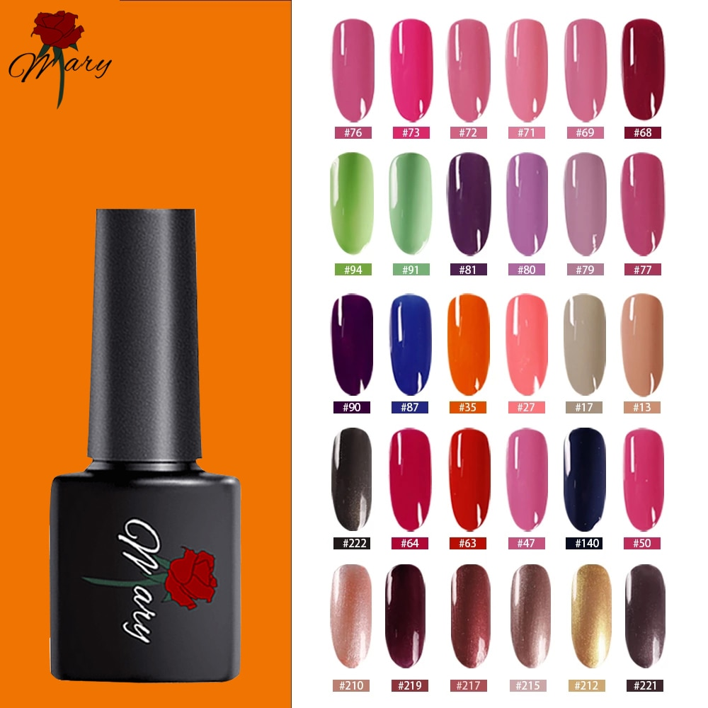 Rosemary New Free Shipping Nail Art Design Manicure 147Color 8Ml Soak Off Enamel Gel Polish UV Lacquer Varnish