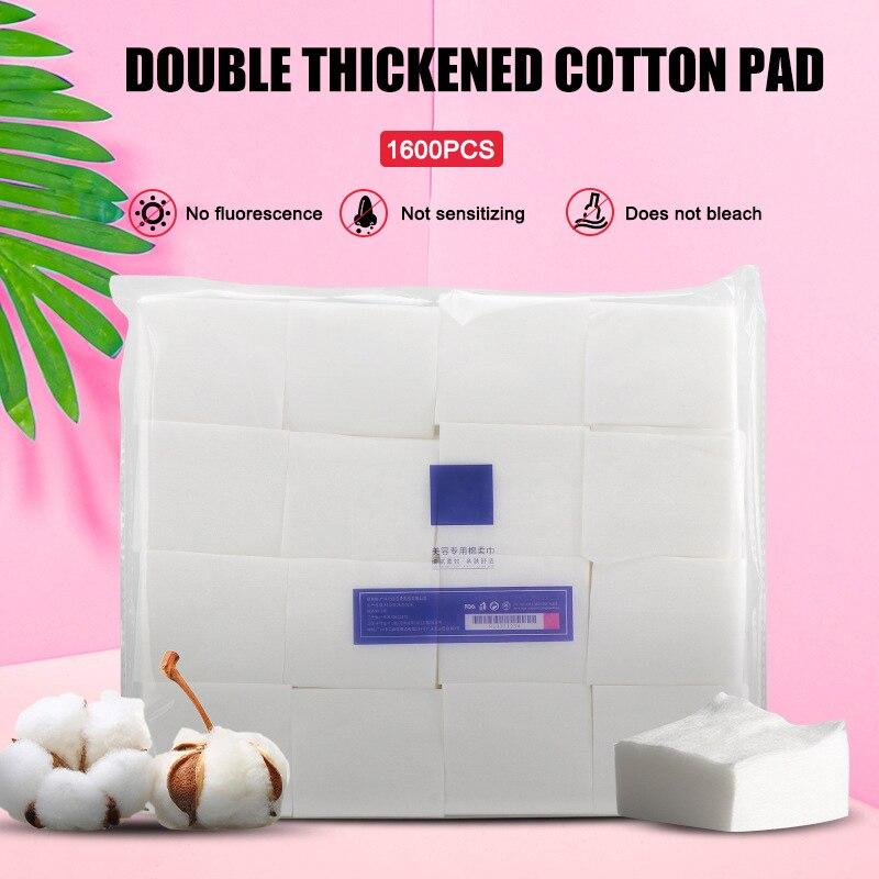 1200/1600 almofadas de algodão cosméticas dos pces dupla camada macia para o removedor de limpeza facial da composição kg66
