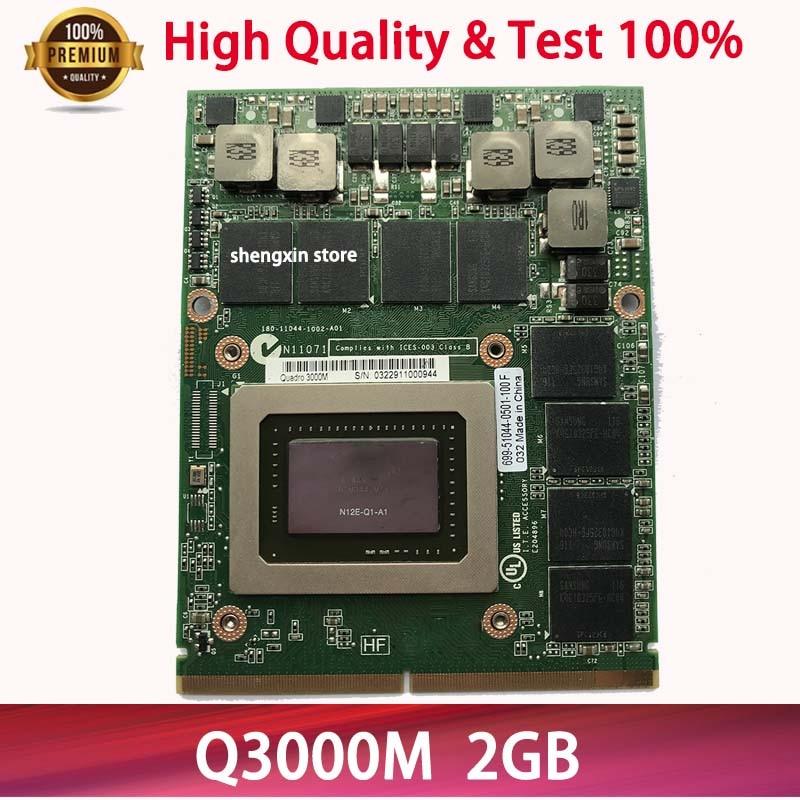 N12E-Q1-A1 2GB Quadro 3000M q3000m vídeo VGA tarjeta gráfica para portátil DELL M6600 M15X hp 8760W 8740W 100% de prueba