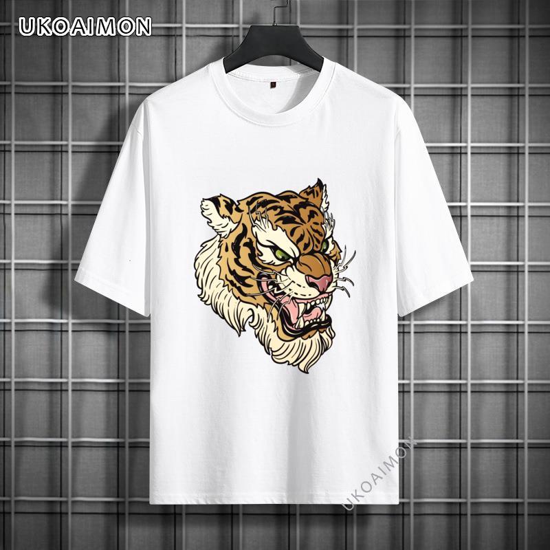 Классные летние мужские футболки Angrey с тигром, повседневные футболки для вечеринки, Мужская футболка, Забавные футболки на заказ, подарки