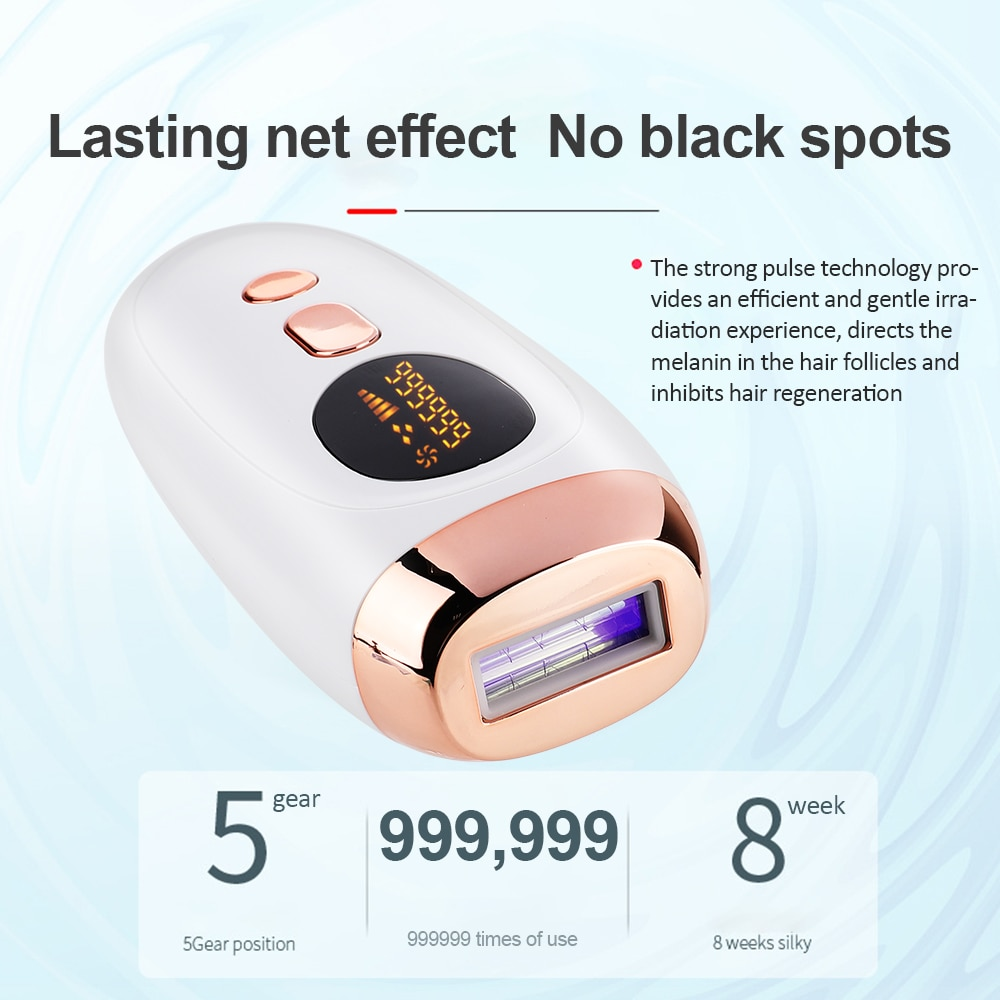 جهاز إزالة الشعر الدائم بدون ألم للرجال والنساء ، جهاز إزالة الشعر بالليزر IPL ، 999999 مرة ، للبيكيني ، الإبط ، الوجه