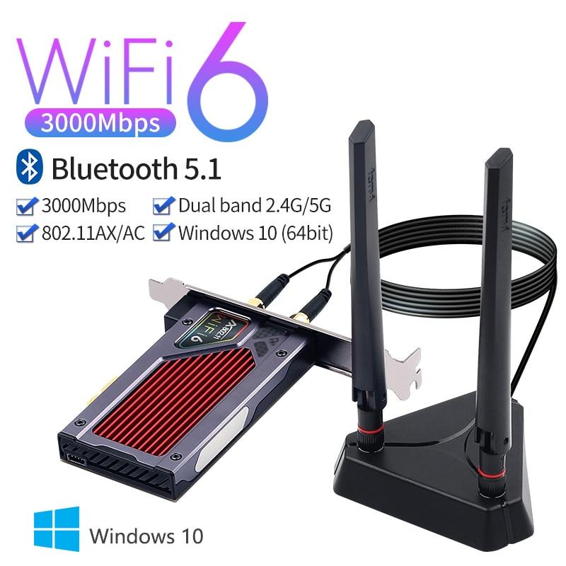 3000 Мбит/с sem fio desktop pcie intel ax200 Wi-Fi 6 адаптер rgb bt5.1 2,4g/5 ГГц 802.11ax pci express Wi-Fi плакат сети