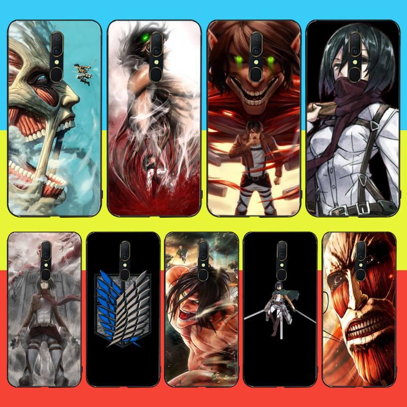 HPCHCJHM Anime el ataque de los titanes Manga 4 TPU suave de silicona, funda de teléfono para Oppo A5 A9 2020 Reno Z Realme5Pro R11 funda