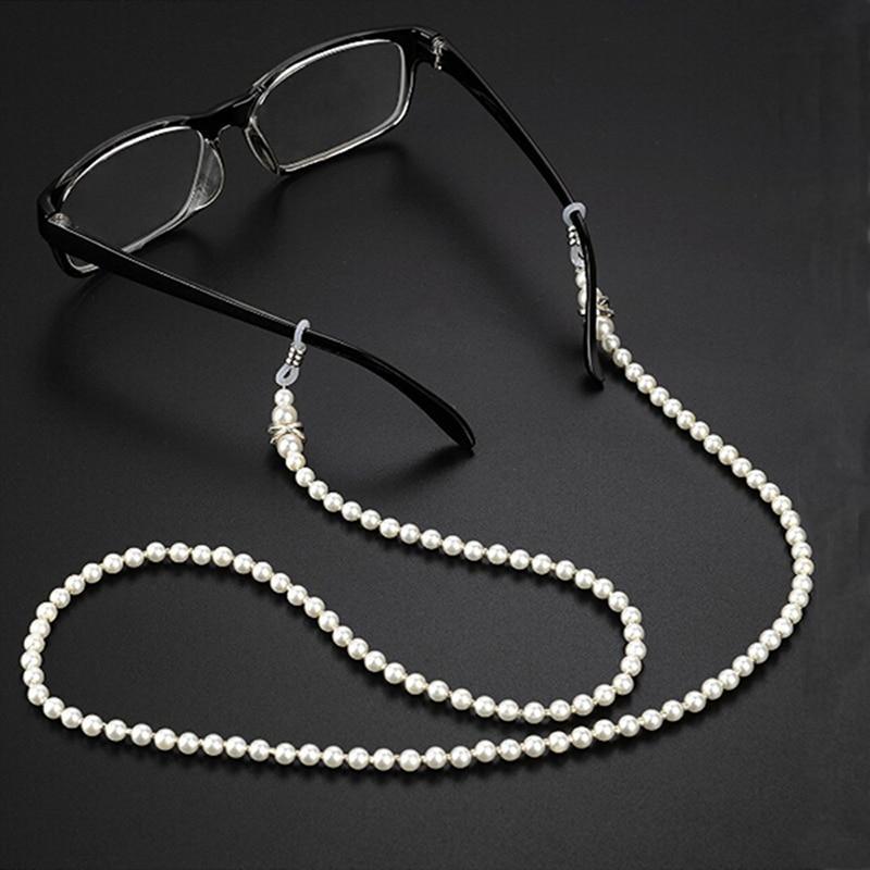 Цепочка для очков с искусственным жемчугом, шнурок для солнцезащитных очков, шнурок для очков, подставка для очков для чтения, аксессуары