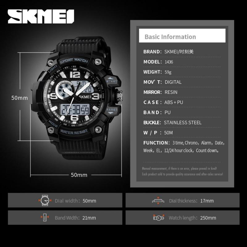 SKMEI Brand Sports Watch Women Men Fashion Dual Display Led Digital Ladies Wristwatch Outdoor Waterproof Relogio Feminino enlarge