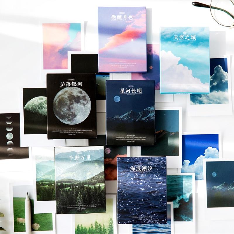 journamm-30pcs-ins-stile-lomo-carta-di-luna-oceano-appiccicoso-deco-adesivi-regalo-del-bambino-scrapbooking-kawaii-di-cancelleria-decorativo-adesivi