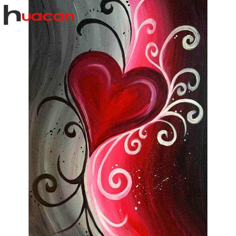 Huacan Diamond Painting Full Square/Round Cartoon 5D DIY Diamonds Embroidery Heart Decorations Home Handicraft