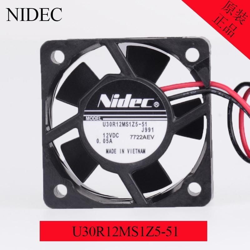 NIDEC U30R12MS1Z5-51 3015 12V 0.05A 3CM 30mm duro portátil ventilador 3cm 0,6 W de refrigeración