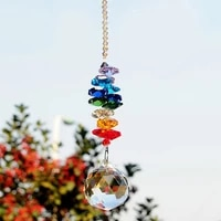 colorful jewelry crystals pendants chandelier suncatchers prisms hanging ornament chakra crystal pendants for window decoration