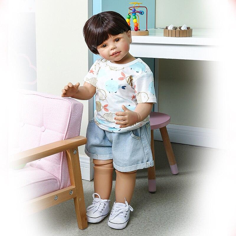 Npk 70 cm crianças roupas modelo criança boneca realista artista desgin collectible arte boneca original masterpiec