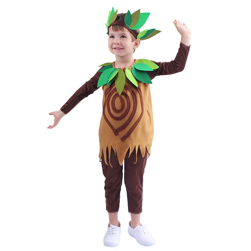 Kid Cartoon Nature Tree Costumes Boys Girls Party Role Play Dress Up Suit Halloween Cosplay Costume Children Carnival Outfit