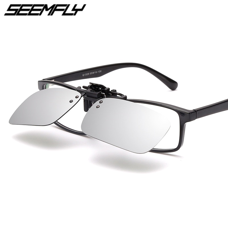 Gafas de sol polarizadas Seemfly con Clip en las gafas de sol para hombre y mujer, gafas de sol para conducción deportiva, gafas UV400, gafas 2019