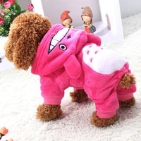 1pcs warm soft fleece pet dog cat clothes cartoon puppy dog costumes autumn winter clothing for small dogs outfits pet supplies