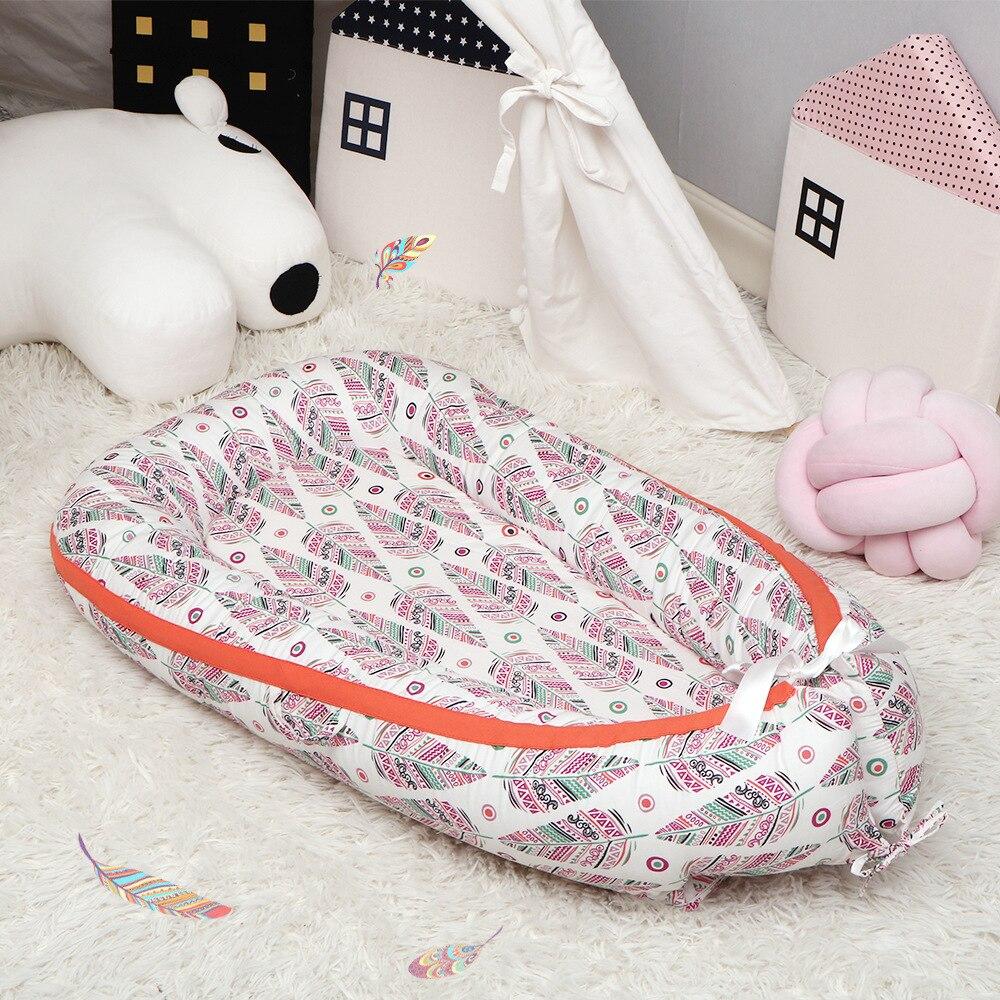دروبشيبينغ المحمولة القابلة للإزالة القطن الطفل بيونيك سرير طفل مهد القطن الرضع مهد