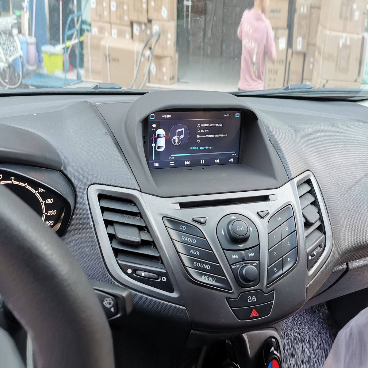 Mlutimedia راديو السيارة الاندورويد تحديد مواقع لمشغل أقراص دي في دي الملاحة لفورد فييستا 2008-2013 راديو السيارة مشغل فيديو الوسائط المتعددة
