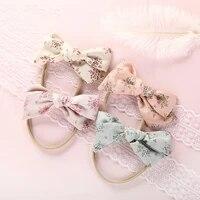 nylon bows baby headband flower bowknot hairband baby girl headbands nylon kids elastic hair band girls hair accessories