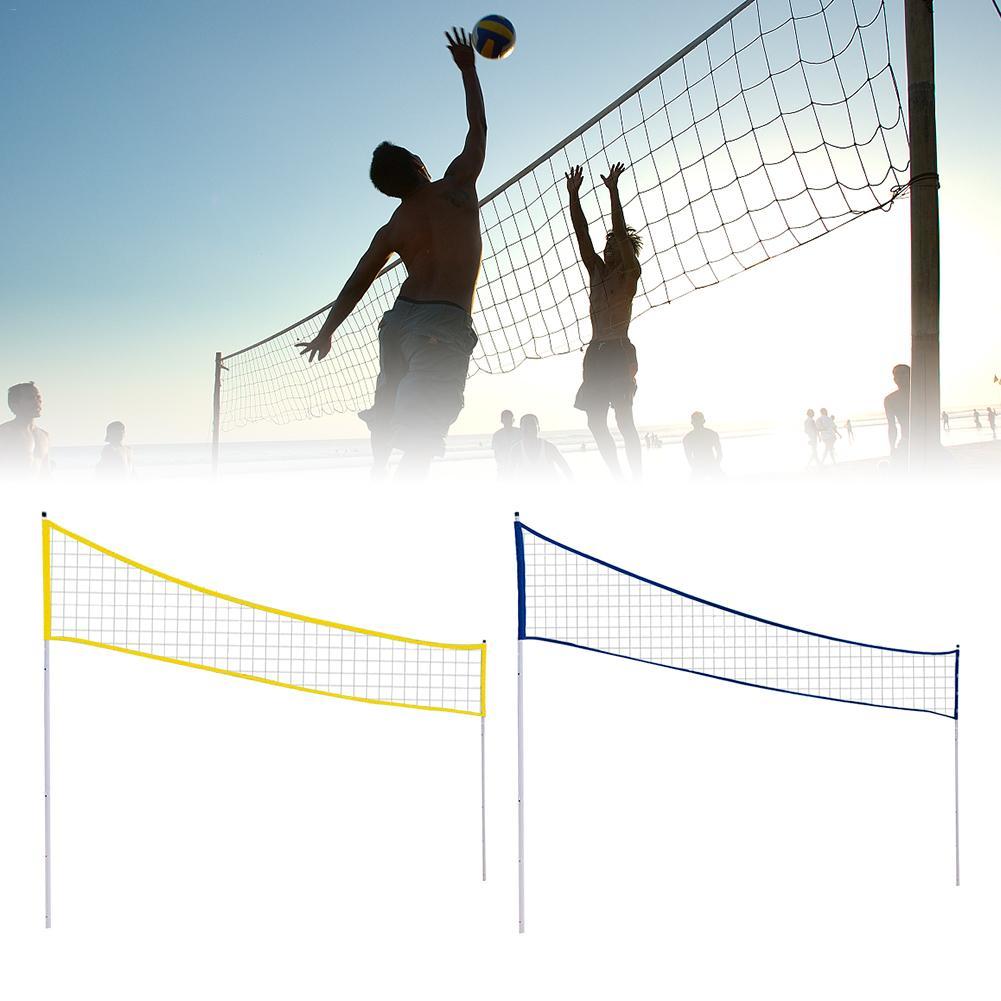 في الهواء الطلق المحمولة الكرة الطائرة صافي للطي قابل للتعديل الكرة الطائرة الريشة شبكة تنس مع موقف القطب لشاطئ العشب بارك في الهواء الطلق
