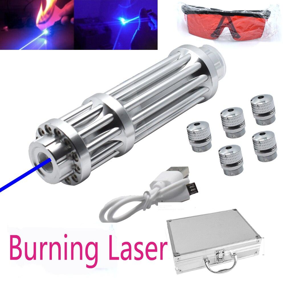 USB Перезаряжаемый фонарик, лазерная указка, ручка 150000 МВт, высокая мощность, яркий зеленый, синий, охотничий лазерный прибор, инструмент для ...
