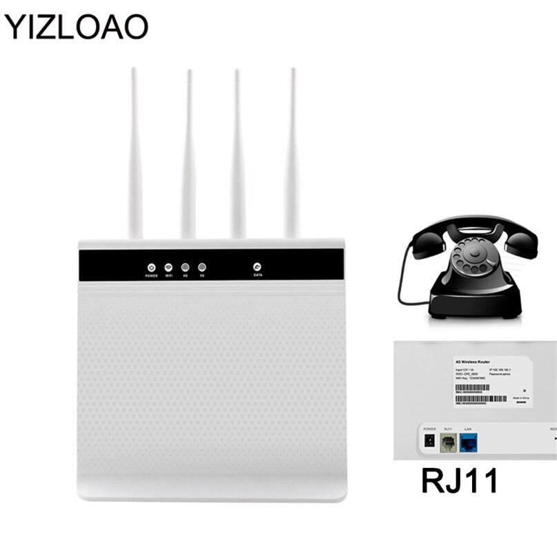YIZLOAO-راوتر wi-fi 4G ، نقطة وصول للمكالمات الصوتية ، هاتف ثابت ، فتحة بطاقة Sim ، شبكة 4G