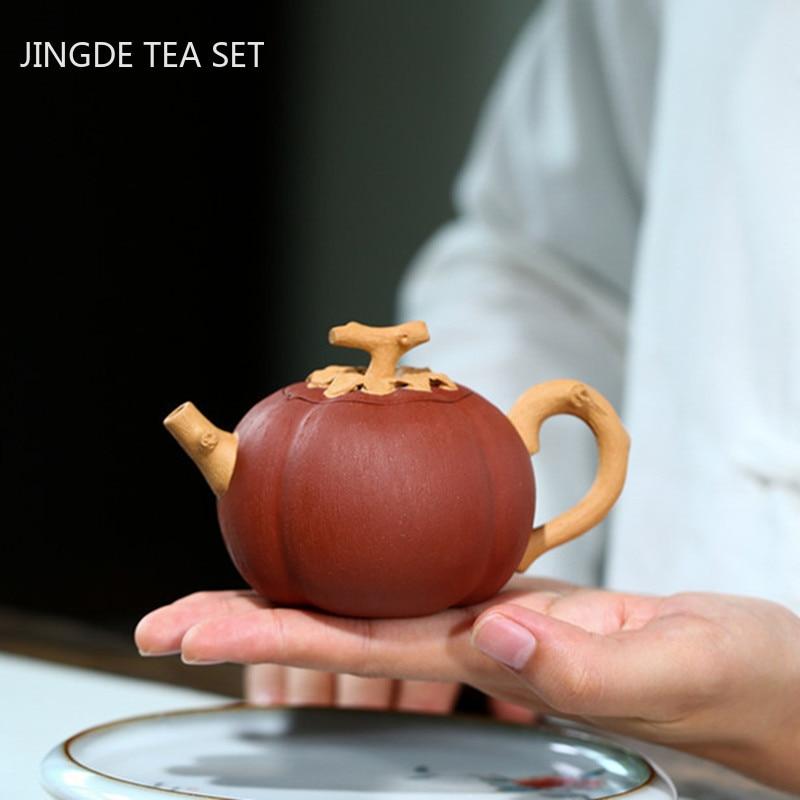 الإبداع ييشينغ إبريق الشاي الأرجواني الطين الخام خام براد شاي مرشح اليدوية غلاية حفل الشاي لوازم المنزلية درينكوير 140 مللي