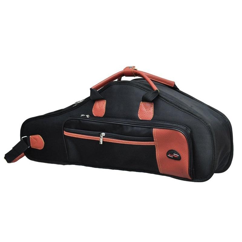 Bolsa de tela Oxford 1680D resistente al agua, algodón acolchado, telas avanzadas, Saxofón suave, correa de hombro ajustable, bolsillo para Alto S