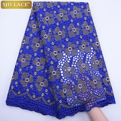 Sjd laço suíço africano voile laço em landtecido de landlace tecido de algodão seco tecido de renda africano a1826