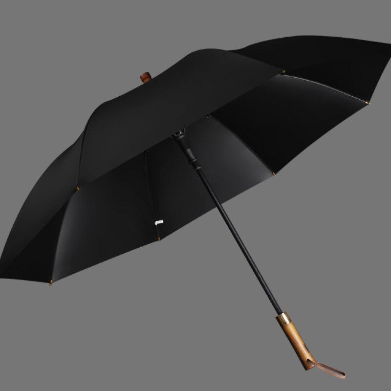 Large Outdoor Umbrella Wooden Handle Travel Windproof Mountaineering Long Handle Umbrella Waterproof Paraguas Rain Gear DG50YS enlarge