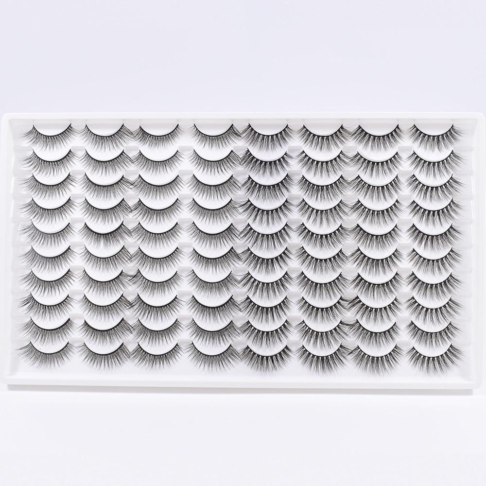 40 пар 3D норковые ресницы натуральные норковые накладные ресницы наращивание Искусственные ресницы оптом инструменты для макияжа Мягкие На...