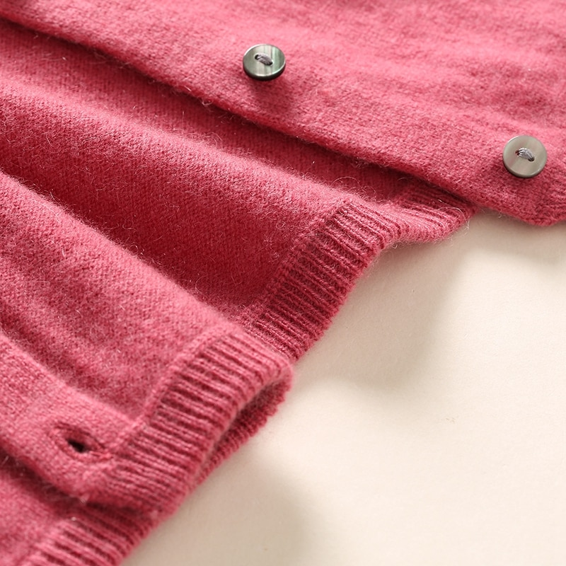 100% Cashmere Soft Cardigan Women 2021 Autumn New O-Neck Knitwear Korean Style Knitted Tops Woman Clothes Girls Cardigan Sweater enlarge
