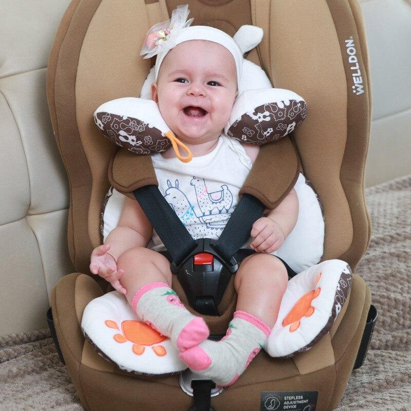 Двусторонние аксессуары для коляски, детское автомобильное сиденье, подушка для коляски, поддержка головы новорожденного, кресло для мален...