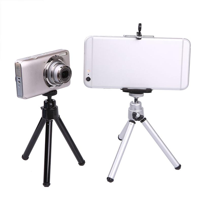 Mini trípode extensible para teléfono de escritorio soporte de pie 2 secciones para iPhone Xiaomi Samsung Smartphone cámara Gopro DV SLR