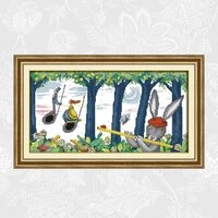 play a musical instrument counted cross stitch kits sale embroidery needlework set home decoration send accessory tools