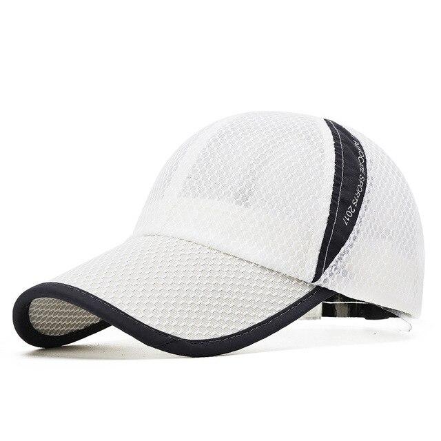 Men Women Quick-dry Sports Baseball Cap Snapback Sunhat Mesh Patchwork Outdoor Hiking Running Hip Hop Baseball Hats Casquette 2