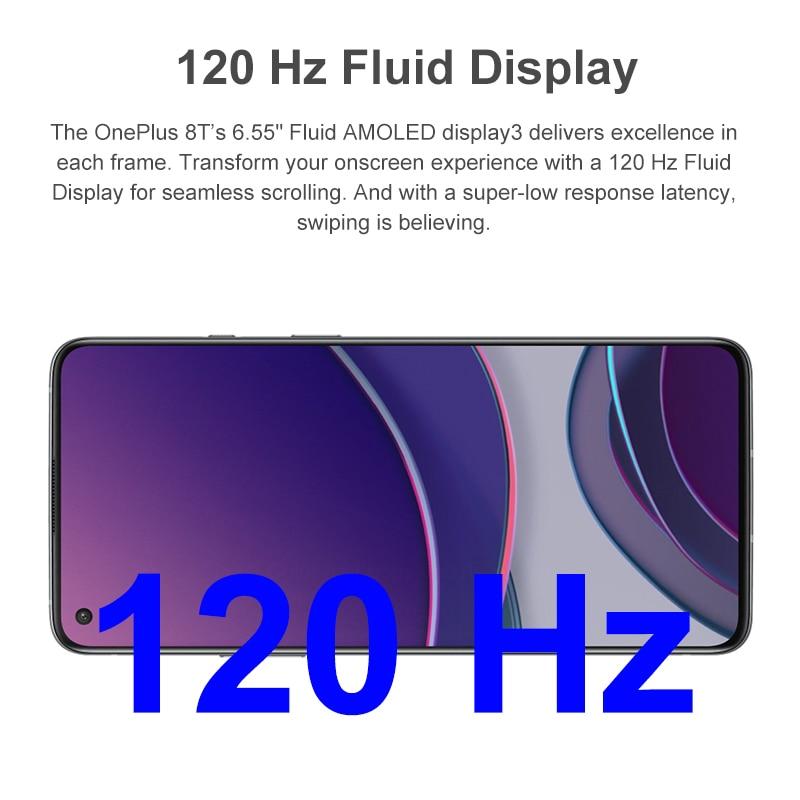 Фото2 - Оригинально защитное стекло 8 T 8 T Quad проходит топливный фильтр грубой очистки Snapdragon 865 65 Вт Warp зарядки Android 11 5G смартфон 120 Гц активно-матричны...