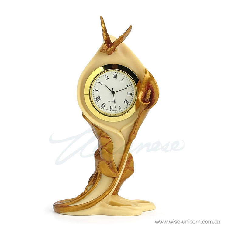 New technology clock - Butterfly and Alocasia birthday Exquisite household ornaments decoration sculpture Decorate birthday