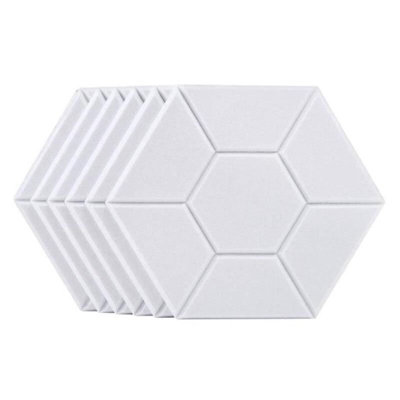 6 шт шестигранный Акустические панели Звукоизолированные подкладка высокой плотности декоративные звукоизоляционные панели для дома, офи...