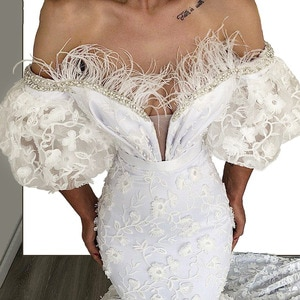 Luxury Off The Shoulder White Mermaid Evening Dresses 2020 Robe De Soiree Dubai Formal Kaftans Arabic Party Dress Prom Gowns
