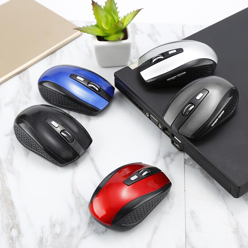 USB 2.4GHz Wireless Mouse 6 Keys Portable Mini Mice Adjustable Gear Ergonomic Mouse For Desktop Notebook PC Computer Peripherals
