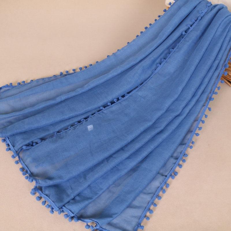 Amazon to dye cotton and linen monochromatic badminton ball straight for baotou scarf VS039 scarf factory