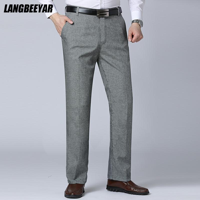 Высокое качество Новая повседневная модная удобная дышащая дизайнерская мужская одежда Бренды 2021 Брюки прямые деловые длинные брюки