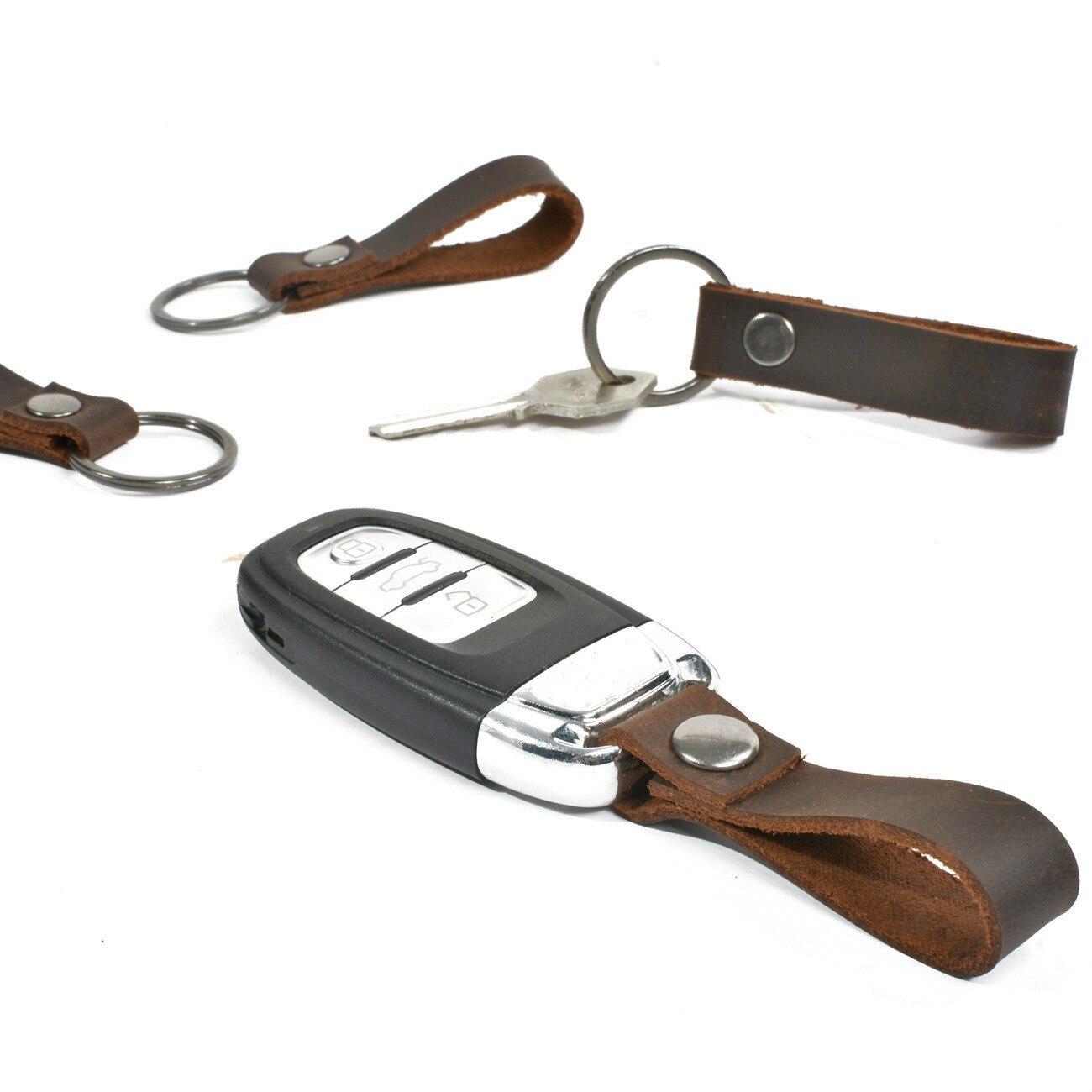 Mini bolso de Soporte para Llavero Cuero de vaca Real llavero de cuero genuino fundas de bolsillo para las llaves del coche mujeres hombres regalo hecho a mano 2019 nuevo