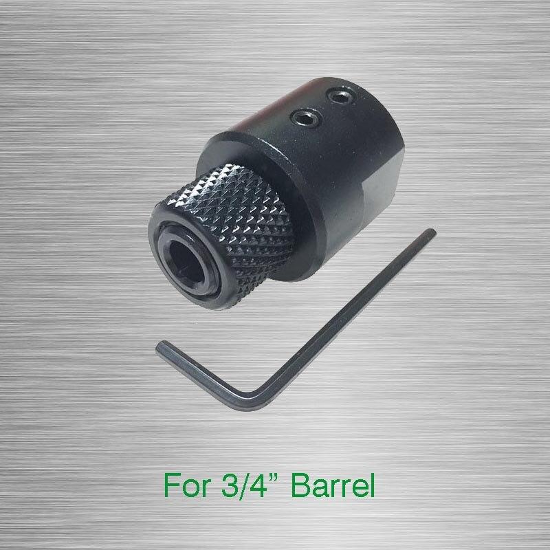 """Adaptador roscado de extremo de barril para 3/4 """"(0.750"""") diámetro de barriles sin rosca adaptador de barril de boquilla 1/2-28 o 1/2-20 Compensador"""