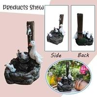 resin duck family patio fountain garden decoration outdoor landscape garden design duck family