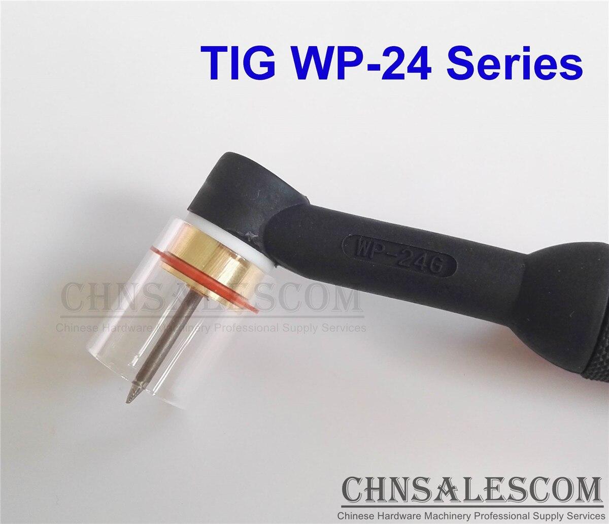 "CHNSALESCOM 7 Uds TIG soldadura 10 #12 # Pyrex Kit de copa de vidrio para WP-24 serie. 040 ""1/16"" 3/32"""