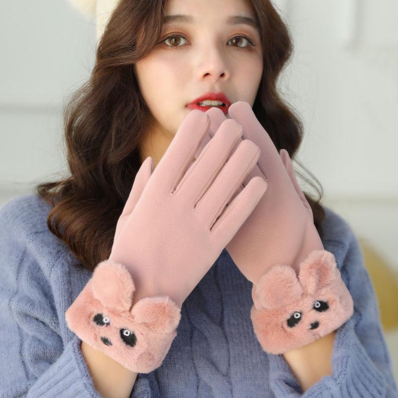 Женские зимние перчатки, плюшевые перчатки, зимние перчатки, варежки, женские зимние хлопковые перчатки, ветрозащитные и непромокаемые пер...