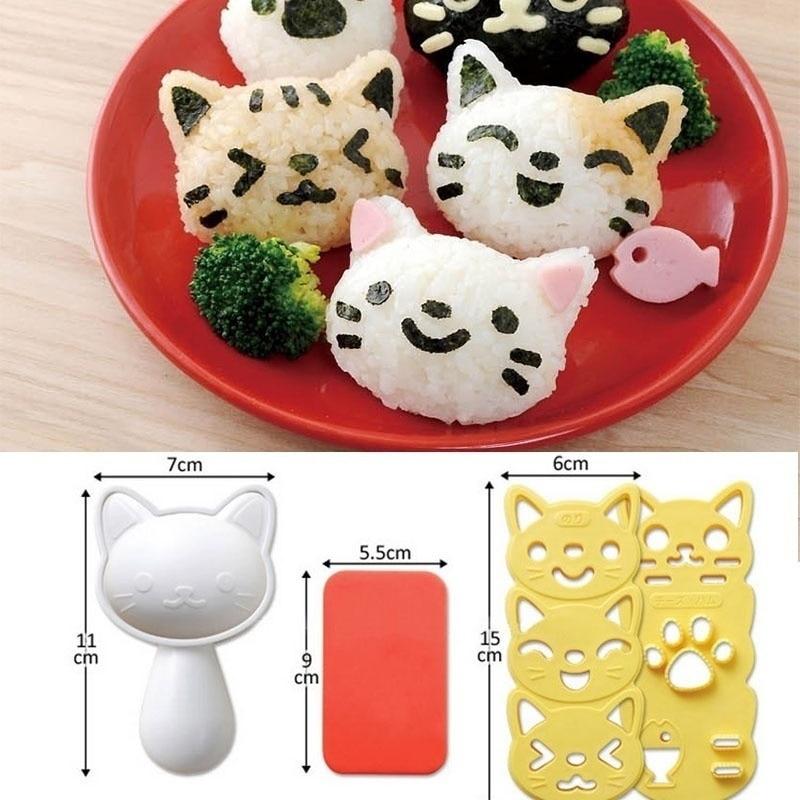 1 Набор милая улыбка кошка рисовая форма для суши Декор резак сэндвич DIY инструмент Японский Рисовый шар Рождественская елка Хэллоуин тыква формы