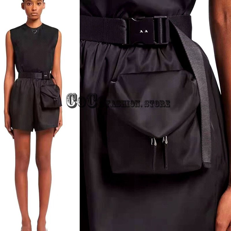 Luxury designer 21 women clothing fashion high waist loose short Zipper pocket design logoed casual woman branded summer shorts