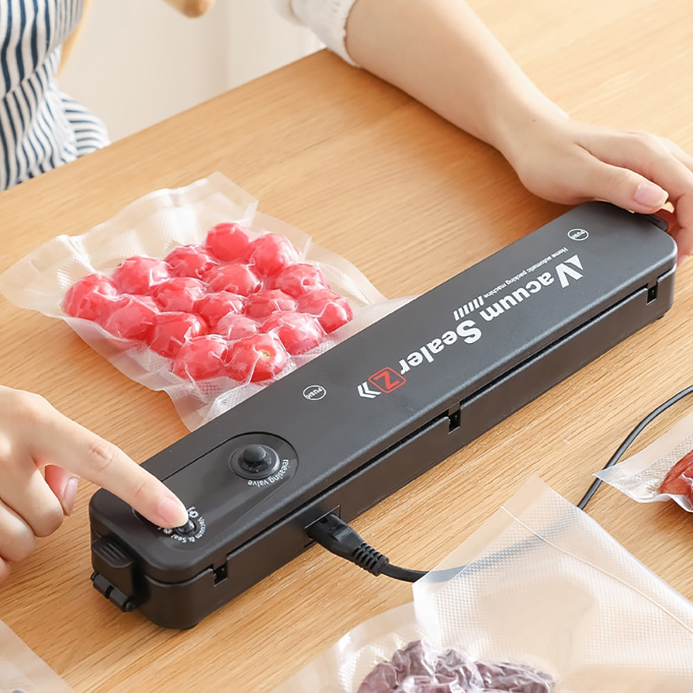free shipping giving quick wear part 110v 220v sinbo dz 280 household portable food vacuum sealer plastic bags Kitchen Vacuum Food Sealer 220V/110V Automatic Commercial Household Food Vacuum Sealer Packaging Machine Include 10Pcs Bags