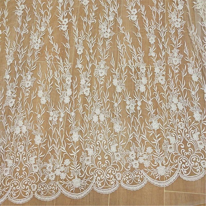 Nuevo vestido de novia con flores bordadas y encaje con lentejuelas francés accesorios de costura DIY RS2480